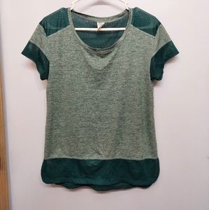 C9 by Champion workout gym jersey top sm green
